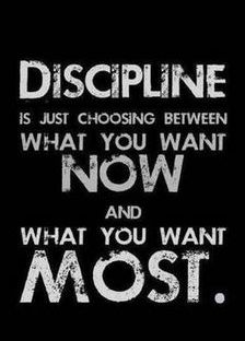 weight loss discipline