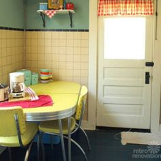 Yellow Red & Green Vintage Kitchen