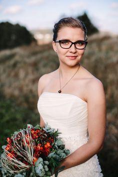 Real wedding in Finland. Wedding dress made by Pukuni (www.pukuni.fi).