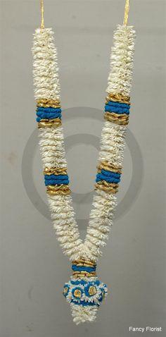5 ft Lily (sampangi) garland with blue ribbon border Flower Garlands, Flower Decorations, Wedding Decorations, Garland Wedding, Wedding Flowers, Indian Flowers, Wedding Wear, Wedding Shot, Indian Bridal Hairstyles