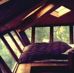 wood beam loft bed