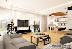 Salon styl Nowoczesny - zdjęcie od design me too Salons, Loft, Contemporary, Living Room, Mirror, Bed, Furniture, Design, African Style
