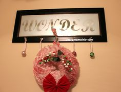 Holiday Frosted Mirror and Coffee Filter Wreath