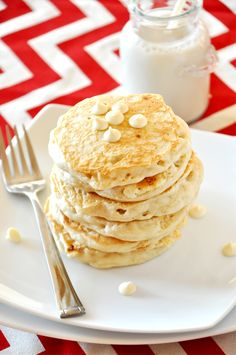 All of your favorite cookies have gone pancakes! White. Chocolate. Macadamia. Pancakes. Yep.