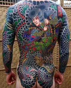 Discover a bold canvas for ink with the top 50 best Japanese back tattoo designs for men. Explore cool traditional style ink ideas and manly body art. Full Back Tattoos, Full Body Tattoo, Body Art Tattoos, Sleeve Tattoos, Tatoos, Men Back Tattoos, Face Tattoos, Tattoo Japanese Style, Art Tribal