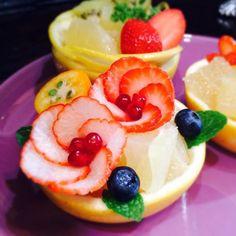 SnapDishに投稿されたラパンマロンさんの料理「お正月フルーツアート (ID:G8mafa)」です。フルーツ お正月 アート