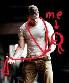 yes. me: ur biceps r huge! kiss me!!!