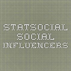 StatSocial - Social Influencers