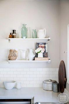 Kitchen inspiration: open shelving - Homes, Bathroom, Kitchen & Outdoor   Home Beautiful Magazine Australia
