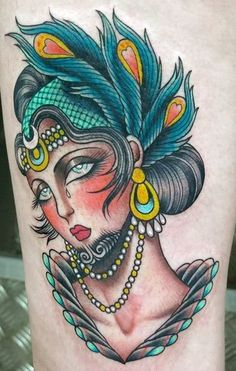 Another bearded lady tattoo