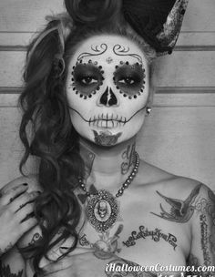 Halloween sugar skull makeup » Halloween Costumes 2013