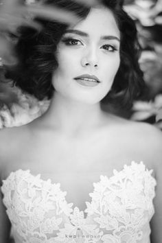 Black and white photo of the bodice of Ines Di Santo Photography by @kristenweaver Hair and Makeup by @makeoverstation