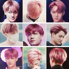 Kai's pink hair #EXO