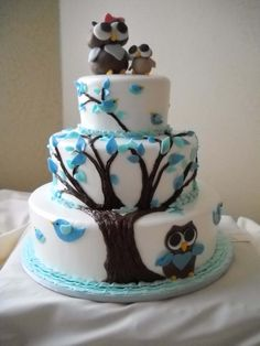 mommy u0026 me baby shower with mommy owl and baby at top and daddy at owl cakescake