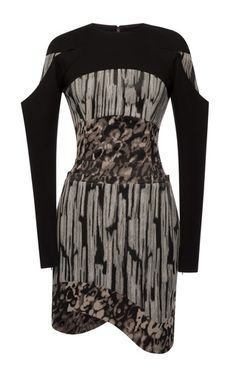 This marbled stretch jacquard mini dress from Antonio Berardi features a high round neck, solid jersey sleeves, and an amorphic hem mini skirt with on-seam side pockets. Back zip100% modal100% modalMade in Italy Please note: This item may be returned for M'O credits or full refund.