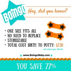 Did you know Boingos cost 77% less than our competitor to cloth diaper from birth to potty?  http://boingobaby.com #clothrevolution #makeclothmainstream #clothdiapers