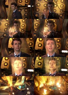 Ten's regeneration... that 6th picture. ... breaks my heart everytime... his eyes are so expressive.