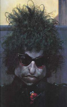 Bob Dylan Caricature...Sebastian Kruger