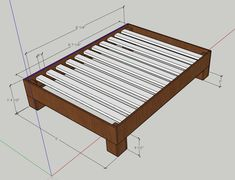 Dimensions Rustic Bedding, Bed Frame, Diy, Home Decor, Projects To Try, Rustic Bed, Country Bedding, Bed Base, Decoration Home