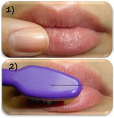 HOW TO EXFOLIATE LIPS. Learn the best techniques on how to exfoliate lips. To exfoliate you need a brush and some natural home remedies to clean lips and make lips pink and fair.