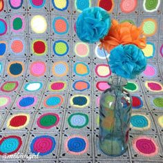 Terrific #crochet circles in squares from mobiusgirl from 50+ Inspiring Crochet Images