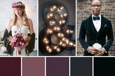 A beautifully moody, dark colour palette inspired by lush velvet. Dark Color Palette, Colour Pallete, Color Palettes, Wedding Color Combinations, Wedding Color Schemes, Wedding Themes, Wedding Decorations, Wedding Ideas, Wedding Color Pallet