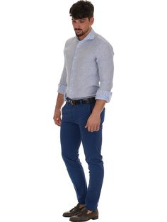 Striped linen shirt Modern Fit DelSiena