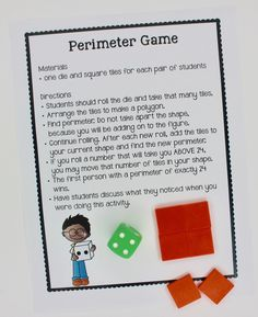 This HUGE collection of fun activities are perfect for teaching area and perimeter in a learning center. Area And Perimeter Games, Area And Perimeter Worksheets, Area Worksheets, Writing Worksheets, Fun Math, Math Games, Math Activities, Math Lesson Plans, Math Lessons