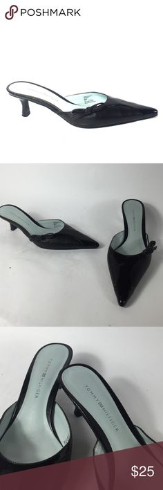 *Tommy Hilfiger* woman's heels 8.5/10. Great condition. Minimal wear/tear all around both shoes. Patent leather mixed with leather materials. Heel: 2 inches. Size: 8M. I am a businessman, make me an offer I cant refuse! Please do not hesitate to ask any questions or for more pictures. Thank you for your time and have a wonderful day Tommy Hilfiger Shoes Heels