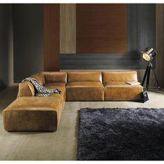 Vintage Brown Leather Sofa ... - Jefferson