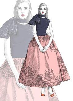 dior - fashion illustration