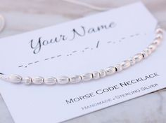 #MorseCode #necklace Custom name necklace provide by SilverStamped