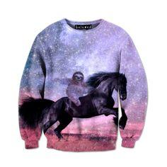 Beloved Shirts Majestic Sloth Sweatshirt