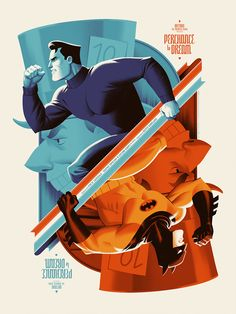 Darwyn Cooke & Bruce Timm — BTAS posters by Phantom City Creative Interview. - Comic Art Influences - Darwyn Cooke & Bruce Timm — BTAS posters by Phantom City Creative Interview… - Bruce Timm, Batgirl, Catwoman, Nightwing, Marvel Dc, Geeks, Dc Comics, Batman Poster, Batman Artwork