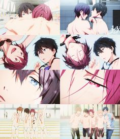 Rin and Haru - Free! Cute Anime Boy, Anime Guys, Black Butler Characters, Free Gas, Splash Free, Free Eternal Summer, Haikyuu Kageyama, Makoharu, Free Iwatobi Swim Club