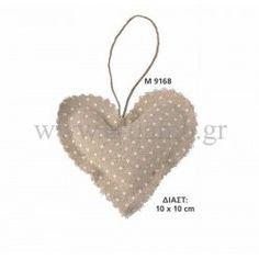 Μαξιλαράκι Μπομπονιέρας Υφασμάτινη καρδιά Διάσταση 10 Χ 10 cm