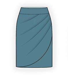 Skirt With Decorative Wrap - Sewing Pattern #4364. Made-to-measure sewing pattern from Lekala with free online download.