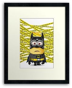Despicable Me Minion BATMAN Framed Prints, Poster and Card