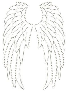Motif strass maxi thermocollant - Ailes d´ange - Rascol, Diy Abschnitt, String Art Templates, String Art Patterns, Doily Patterns, Dress Patterns, Diy Angel Wings, Diy Wings, Beaded Embroidery, Hand Embroidery, Embroidery Dress