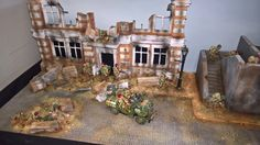 WWII Diorama by TM Terrain - figures and accessories available at Treefrog Treasures Military Miniatures