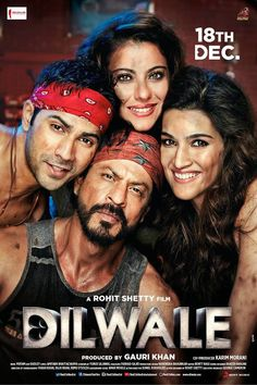 Shah Rukh Khan-Kajol starrer Dilwale that released along with Sanjay Leela Bhansali-'s Bajirao Mastani on Friday had an edge over the latter as it opened to better opening at the box office. 2015 Movies, Latest Movies, New Movies, Movies Online, Movies Free, Watch Movies, Dilwale 2015, Hd Movies Download, Movie Downloads