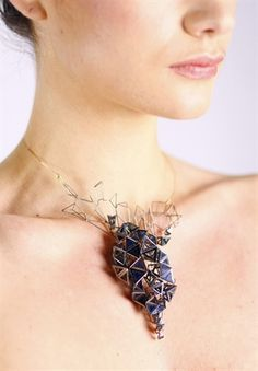 """Fractured City"" stunning necklace by Katharina Vones"