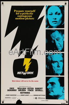 Happy Birthday #PeterFinch https://eartfilm.com/search?q=peter+finch #actors #acting #HowardBeale #Network #SundayBloodySunday #television #FirstMenInTheMoon #movie #movies #poster #posters #film #cinema #movieposter #movieposters    Network-William Holden-Faye Dunaway-Sidney Lumet classic-advance-27x41-1976