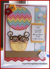 PAPER PIECING MEMORIES BY BABS: Twins Card