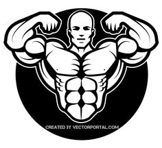 The largest selection of Bodybuilding and Fitness Articles, Exercises, Workouts, Supplements & Community to help you reach your fitness goals Gym Design, Logo Design, Fitness Design, Bodybuilder, Bodybuilding Logo, Gym Logo, Figure Reference, Clip Art, Fitness Logo
