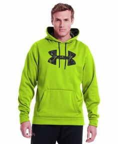finest selection c80d1 b9cd8 Under Armour Men s Armour® Fleece Storm Pattern Big Logo Hoodie Large HYPER  GREEN LOOSE breathable