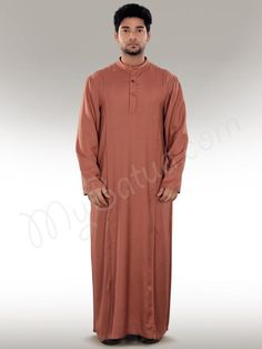 Islamic Mens Redwood Party Wear Galabiyya | MyBatua.com   Maraj Redwood Galabiyya !  Style No : GM-023  Shopping Link : http://www.mybatua.com/maraj-redwood-galabiyya     Available Sizes XS to 7XL (size chart: http://www.mybatua.com/size-chart/#ABAYA/JILBAB)     •	Band collar, functional placket with button closure. •	2 side front piping from shoulder to bottom.    •	Utility pockets on both sides. •	Straight sleeves •	Colour: Redwood •	Fabric: Soft Rayon