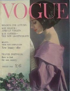 Vintage Vogue magazine covers - mylusciouslife.com - Vintage Vogue UK August 1960.jpg