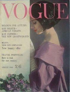 Vintage Vogue magazine covers - mylusciouslife.com - Vintage Vogue UK August 1960.jpg