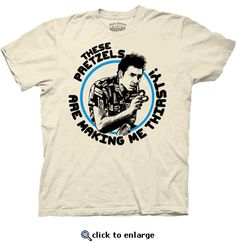 Seinfeld Kramer These Pretzels are Making Me Thirsty Cream Adult T-shirt